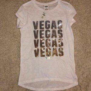VS Pink Vegas Tee size S. NWT